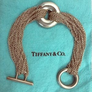 Tiffany silver multi-strand circle bracelet
